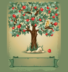Apple tree vector image vector image