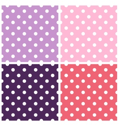 Beautiful colorful dotted background textures set vector image vector image