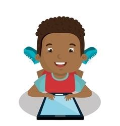 Children using computer design vector image