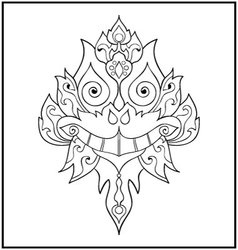 Chinese dragon doodle vector