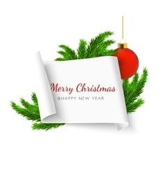 Christmas paper banner vector
