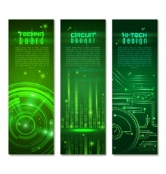 Circuit Banner Set vector image vector image