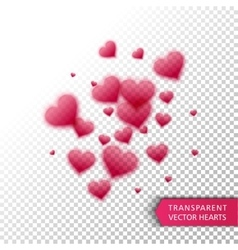 confetti falling from red hearts vector image vector image