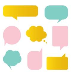 Cute colorful speech bubbles set vector image vector image