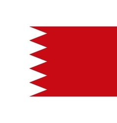 Flag of Bahrain in correct proportions and colors vector image vector image