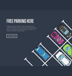 Free parking here poster in flat style vector