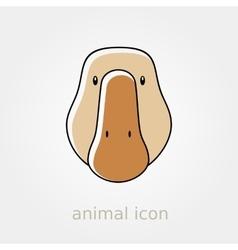 Goose icon farm animal vector