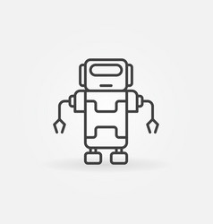robot line concept icon in thin line style vector image vector image