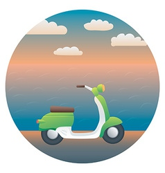 Scooter Detailed vector image