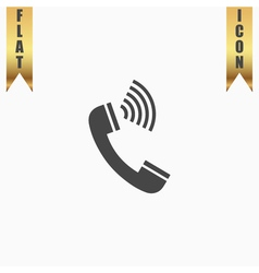 Sound from the handset - phone icon vector image vector image