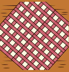 Table with checkered tablecloth image vector