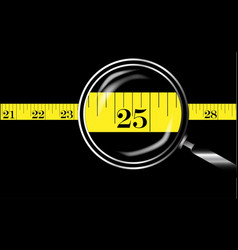 Tape measure border vector