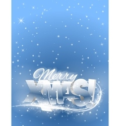 text merry xmas vector image vector image