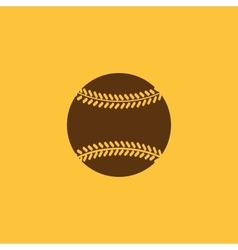 The baseball icon Game symbol Flat vector image
