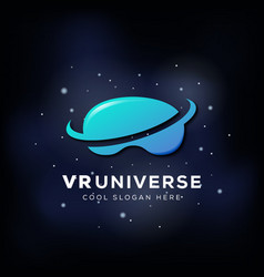 Virtual reality universe abstract icon vector