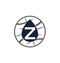 Water oil world letter z vector
