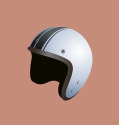 white motorbike helmet vector image vector image