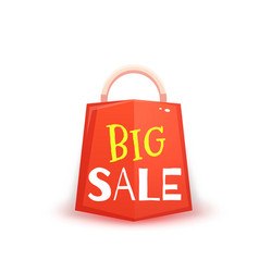 Big sale banner with red packet vector