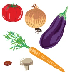 Soup vegetables vector