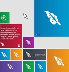 Feather icon sign buttons modern interface website vector