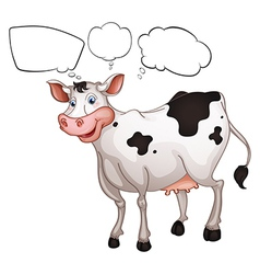 A smiling cow vector image