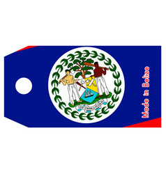 Belize flag on price tag vector