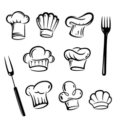Chef hats design elements vector image