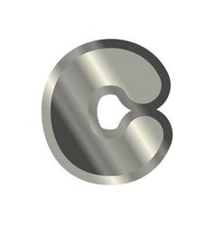 letter c steel font metal alphabet sign iron abc vector image