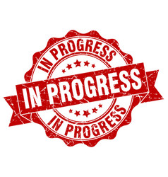 In progress stamp sign seal vector