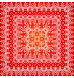 Red ornate shawl pattern vector