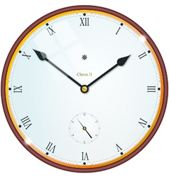 Golden clock with roman numbers vector