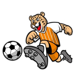 Leopard football mascot vector