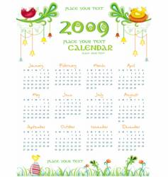 2009 colorful natural calendar vector image vector image