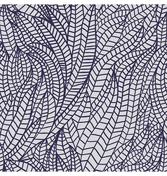 Seamless abstract hand-drawn waves pattern wavy vector