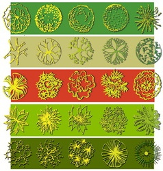 A set of treetop symbols vector image