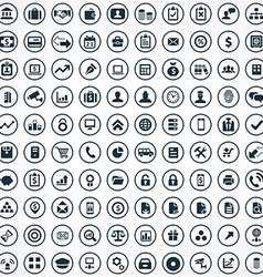 100 bank icons vector