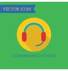 Headphone icon icon sound tools or dj and vector