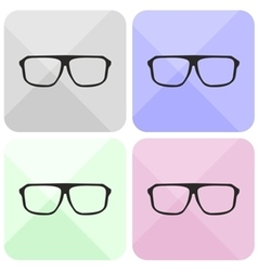 Glasses sign set isolated on white vector