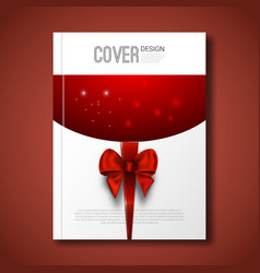 Merry christmas invitation xmas card cover book vector