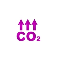 Chemistry sign co2 carbon dioxide icon vector