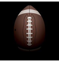 American football on black background vector