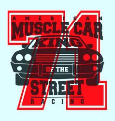 american muscle car t shirt print design vector image