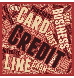 Business Credit Cards Versus Business Lines of vector image vector image