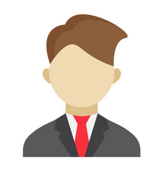 Businessman flat icon business and person vector