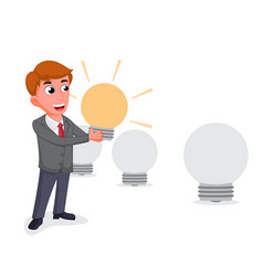 businessman selecting the best employee vector image