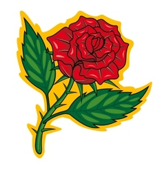 Cartoon rose vector image vector image