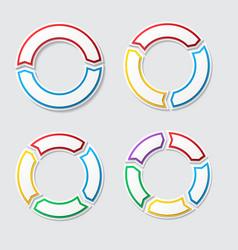 Circle charts with shadow vector