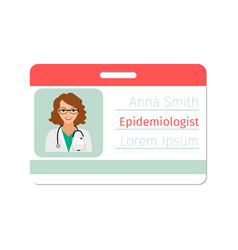 epidemiologist medical specialist badge vector image vector image