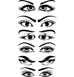 Eyes collection vector image vector image