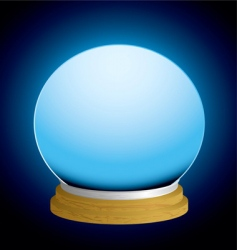 Fortune teller crystal ball vector